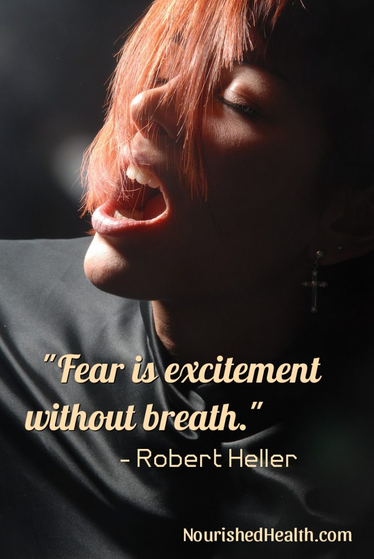 Breathing through fear