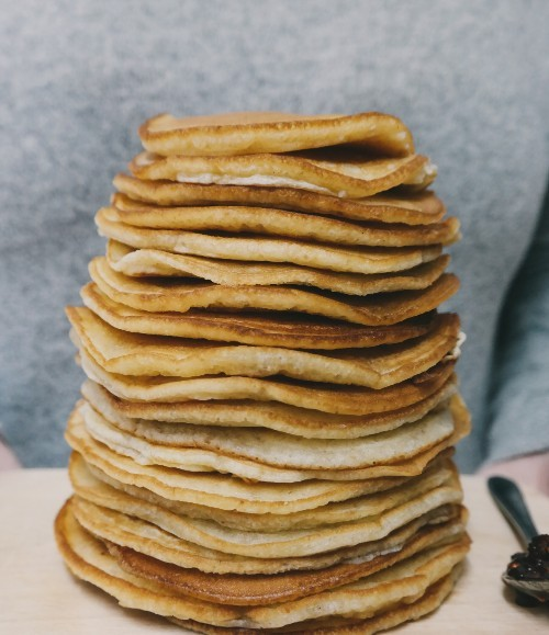 Overeating pancakes image
