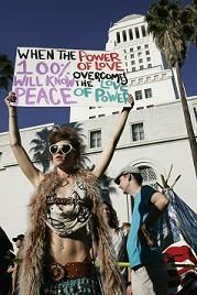 occupy protester love